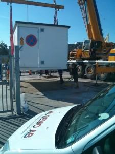 Samordning flytt gascontainer