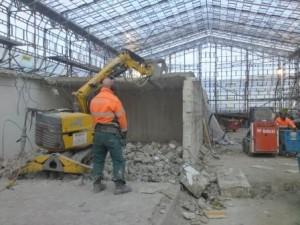 Klippning av betong med Brokk